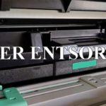 Leeren Drucker-Toner entsorgen