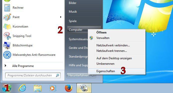 Windows 7 - Herausfinden, ob das Betriebssystem als 32- oder 64-Bit Systemtyp läuft